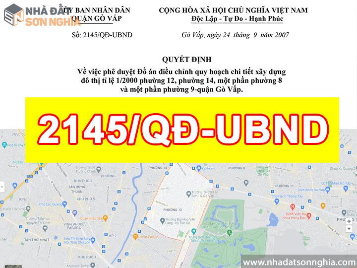 Quyết định số 2145/QĐ-UBND