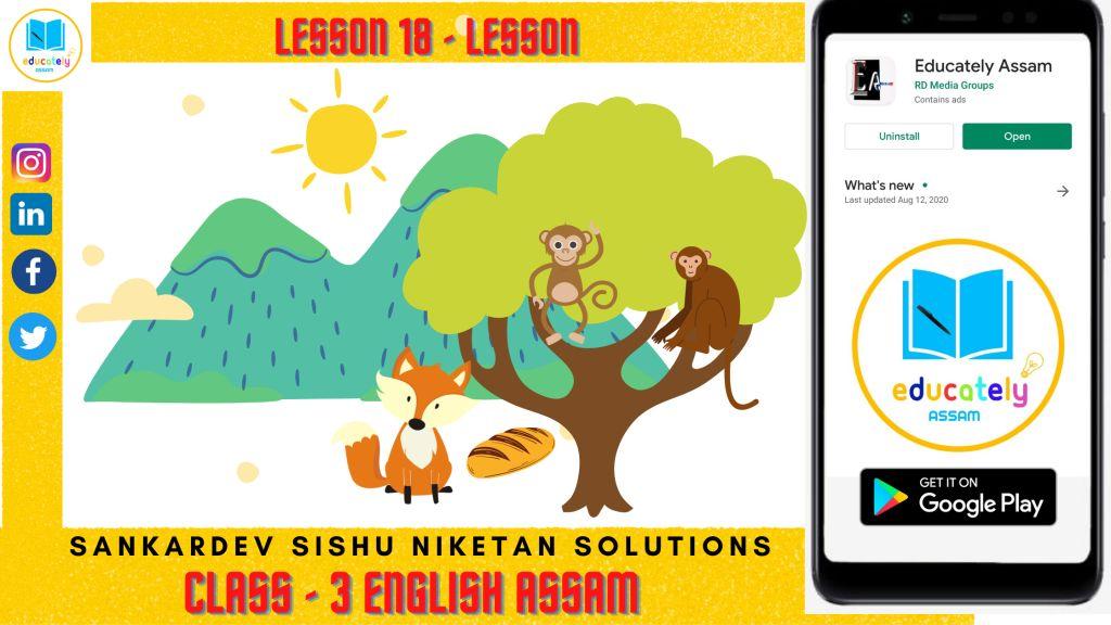 Class 3 Sankardev Shishu Niketan Solutions Lesson 18 | English