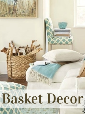 Natural Basket Decor and Storage Ideas