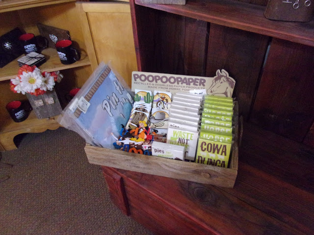 Trinkets and gag gifts available for purchase in the Oakdale Cowboy Museum Gift Shop