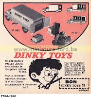 Publicité  Dinky Toys -1960