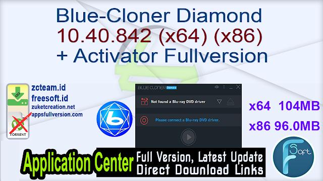 Blue-Cloner Diamond 10.40.842 (x64) (x86) + Activator Fullversion