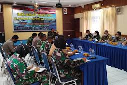 Kasdim Hadiri Rapat Persiapan Kunker Panglima Komando Armada ll di Lanal Cilacap