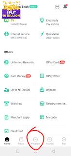 Opay Cash Investment Registration Program