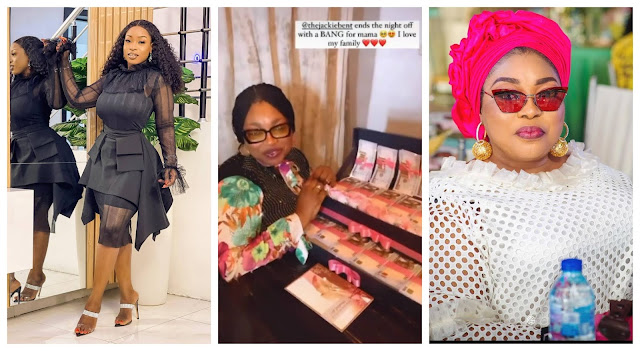 Lovely moment as Jackie B Surprises her mom with gifts on her Birthday (Video)