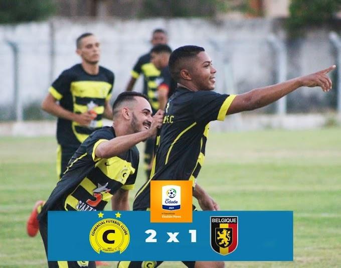 Comercial supera Bélgica em jogo de estreia na Copa Cidade de Elesbão Veloso.