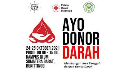 UM Sumbar Bukittinggi Akan Laksanakan Donor Darah Selama Dua Hari