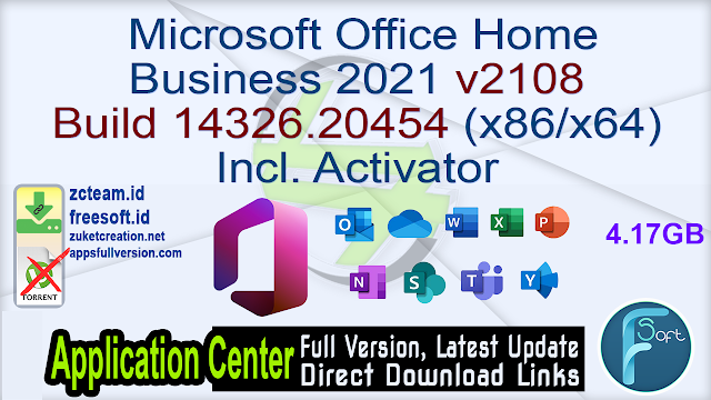 Microsoft Office Home Business 2021 v2108 Build 14326.20454 (x86/x64) Incl. Activator
