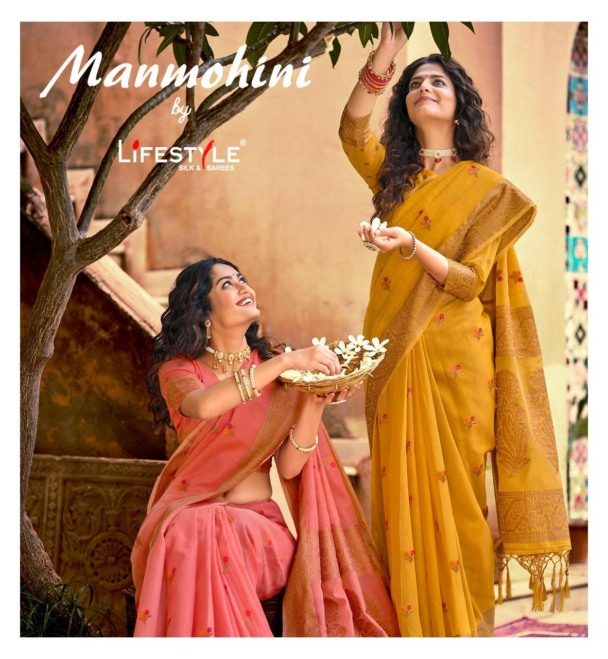 Lifestyle Manmohini Sarees Catalog Lowest Price