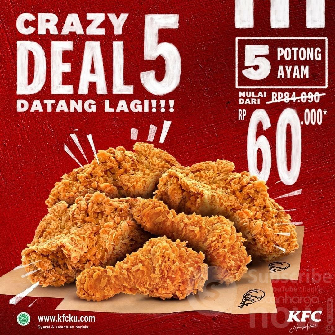 Promo KFC Terbaru Diskon CRAZY DEAL 23 - 24 Agustus 2021