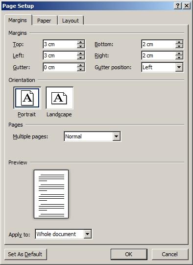 Cara Mengatur Margin Ukuran 3322 di Microsoft Word