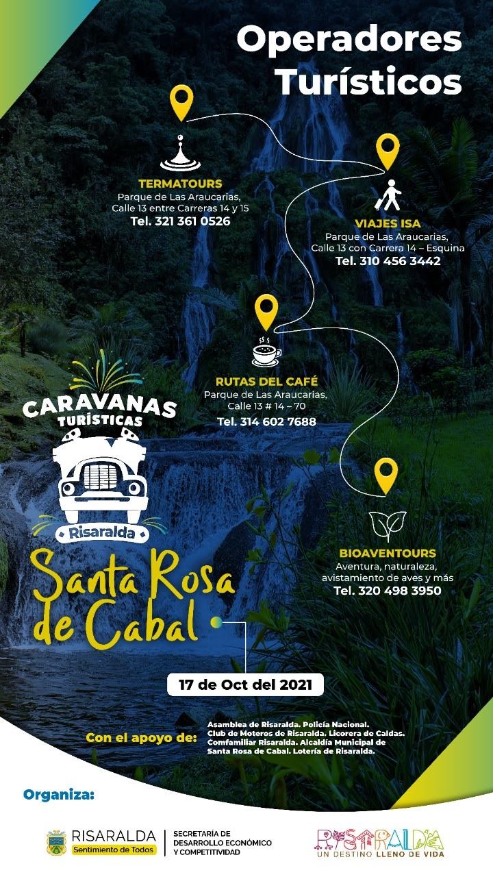 Vuelven a 'rodar' las Caravanas Turísticas por Risaralda