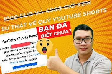 Không cần kênh Youtube bật kiếm tiền vẫn nhận được Quỹ Youtube Shorts