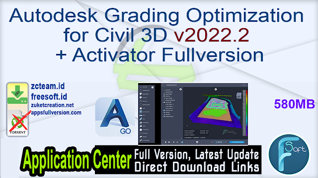 Autodesk Grading Optimization for Civil 3D v2022.2 + Activator Fullversion