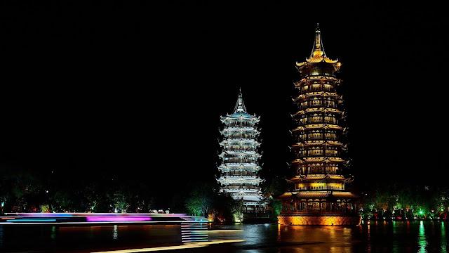 Pagoda Towers desktop wallpaper