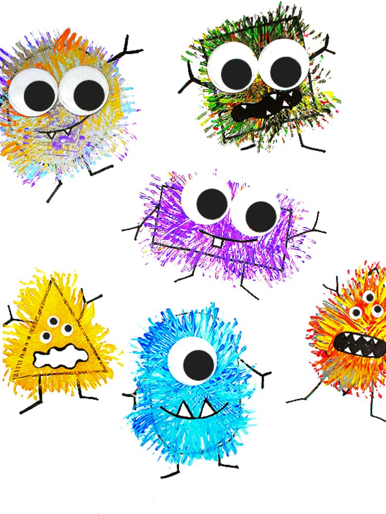 Fork painted monster craft