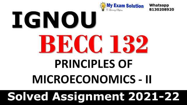BECC 132 Solved Assignment 2021-22