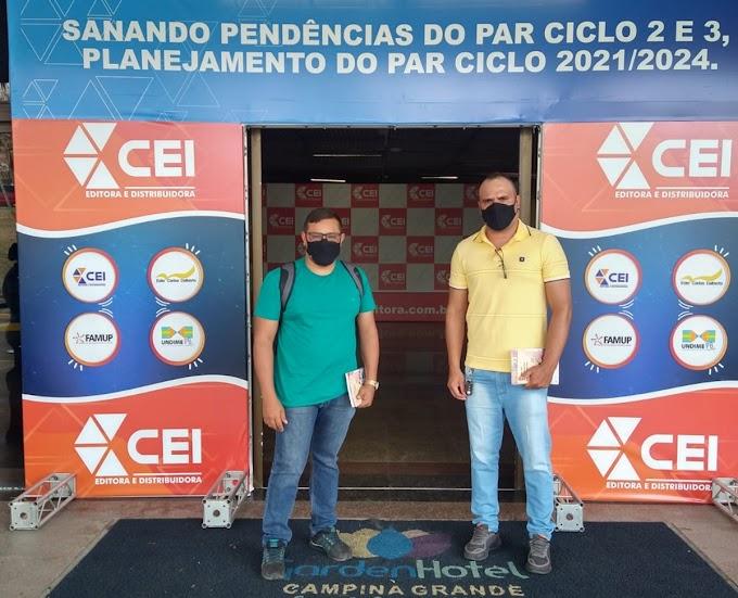 Técnicos da Secretaria de Educação de Amparo participam de treinamento presencial em Campina Grande