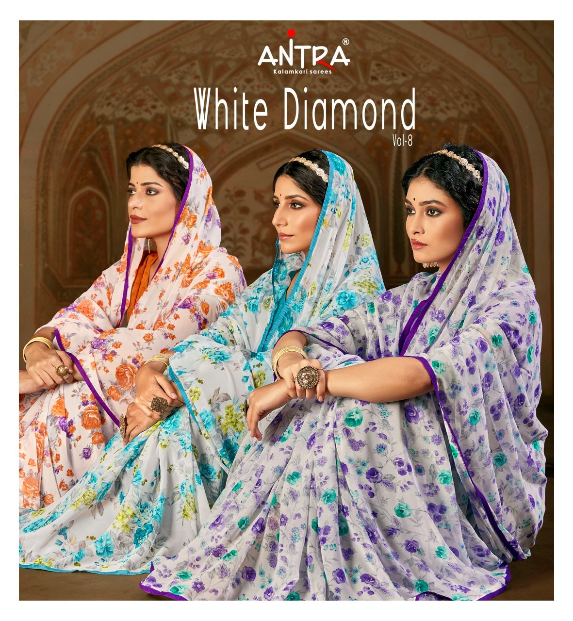 Antra White Diamond Vol 8 Sarees Catalog Lowest Price