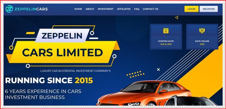 Мошеннический сайт zeppelincars.com– Отзывы, развод, платит или лохотрон? Мошенники