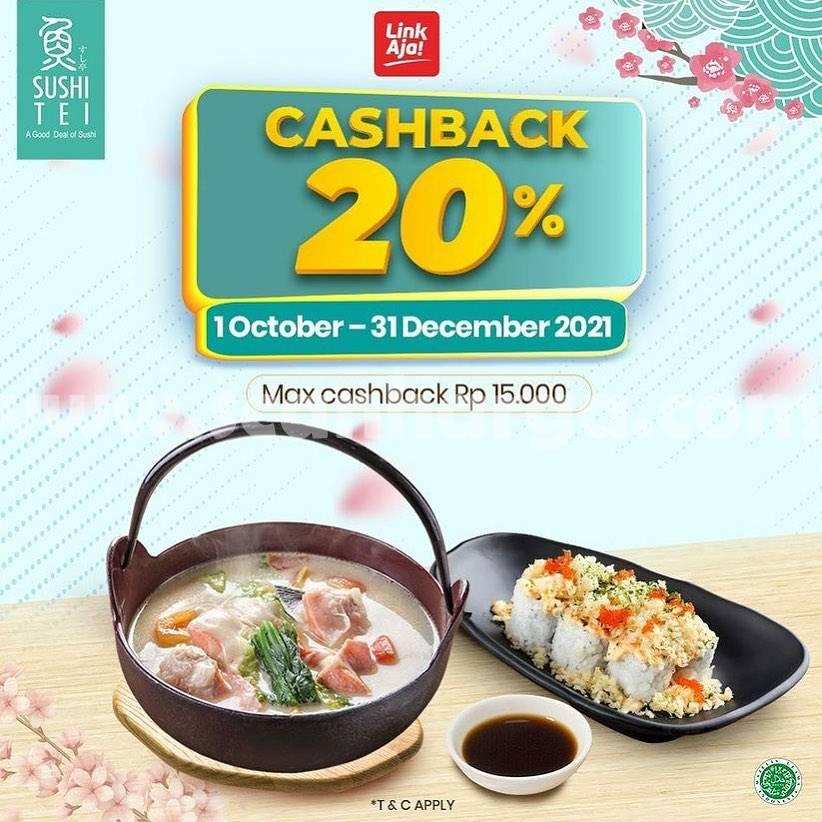Promo SUSHI TEI CASHBACK 20% Transaksi Pakai LinkAja
