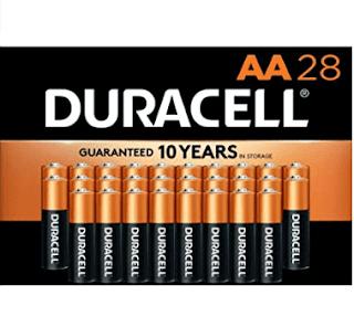 $9.20, 28-Count Duracell CopperTop AA Alkaline Batteries