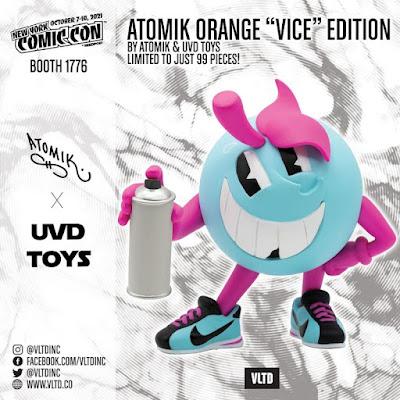 New York Comic Con 2021 Exclusive Atomik Orange Vice Edition Vinyl Figure by Atomik x UVD Toys x VLTD