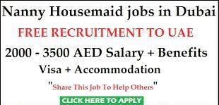 Assistant cum Nanny Job Recruitment For Nursery at Sharjah
