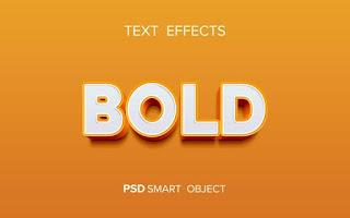 Creative bold text effect Free Psd