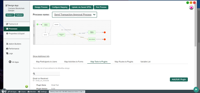 Send Transaction Approval Process generated by App Generator
