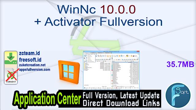 WinNc 10.0.0 + Activator Fullversion