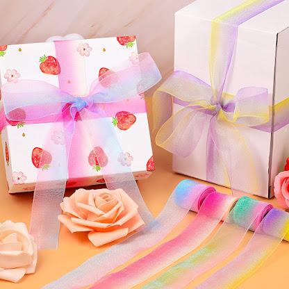 Rainbow Sheer Organza Ribbons