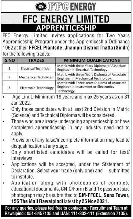FFC Energy Limited Apprenticeship 2021