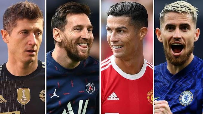 Ballon d'Or 2021 nominees: Messi, Ronaldo, Lewandowski & Jorginho make 30-man list