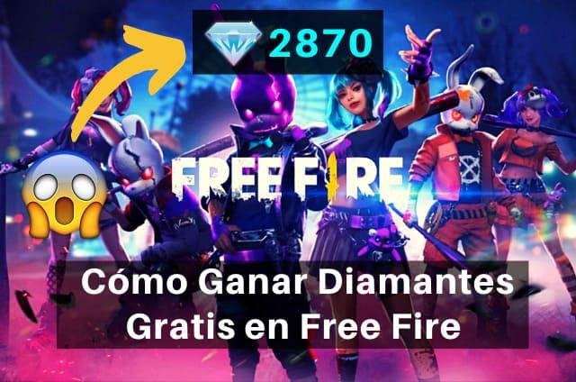 como tener diamantes gratis en free fire