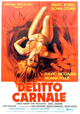 Poster for the 1983 giallo DELITTO CARNALE