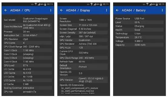 Aida64, aplikasi untuk memeriksa spek hp lengkap