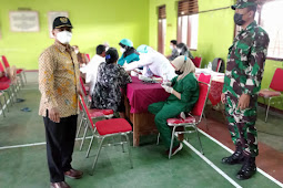 Babinsa Wonosari Sukseskan Serbauan Vaksin TNI Polri