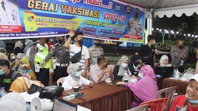 Polres dan Dinkes Manfaatkan Pengunjung Tempat Hiburan dan RTH Logas Muaro Sijunjung Ikut Vaksinasi