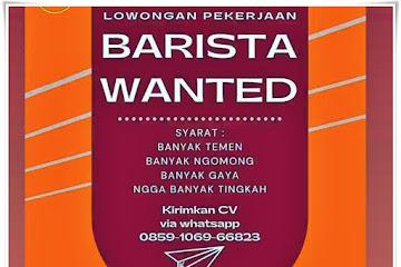 Loker Bandung Karyawan Barista Coffe Kapal
