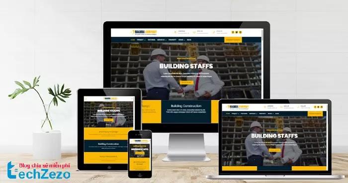 Raghda Company Profile Responsive Blogger Template Free Download