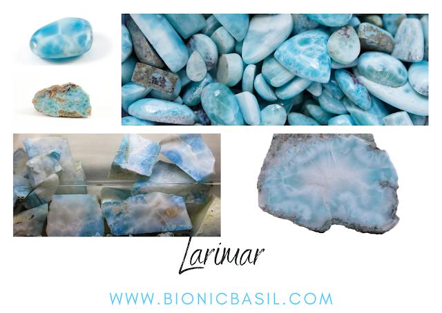 healing crystal identification card, Larimar crystal, healing crystals larimar examples,