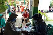 Polres Brebes Gelar Vaksin Presisi di Desa Pagejugan