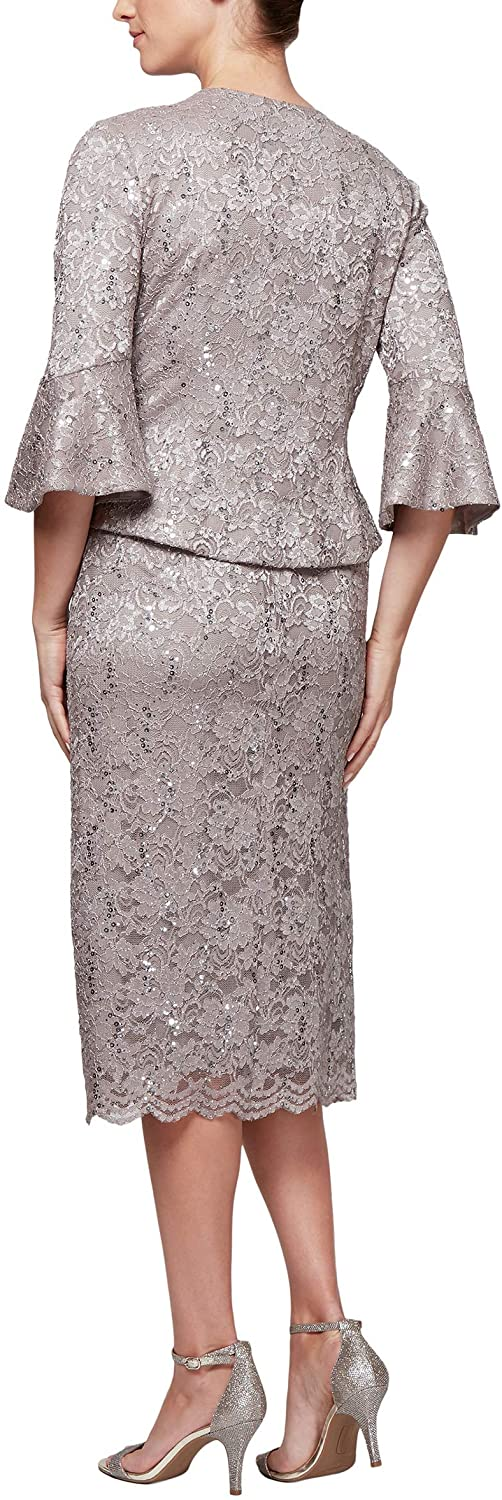 Mink Mother of the Bride Knee Length Dresses From the Back