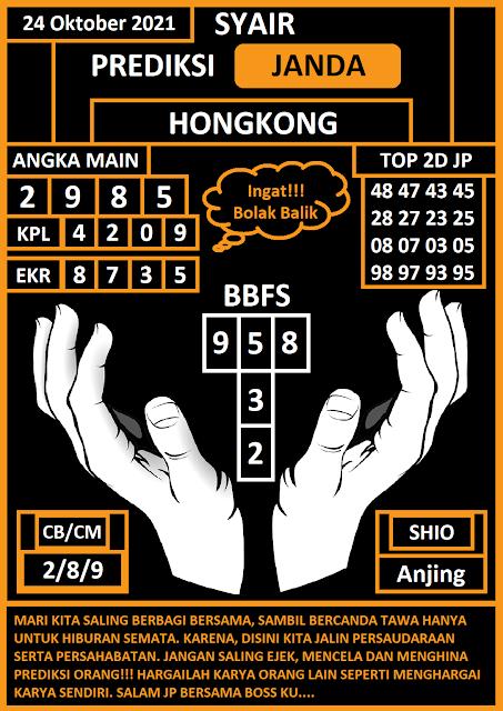 Prediksi HK 24 Oktober 2021