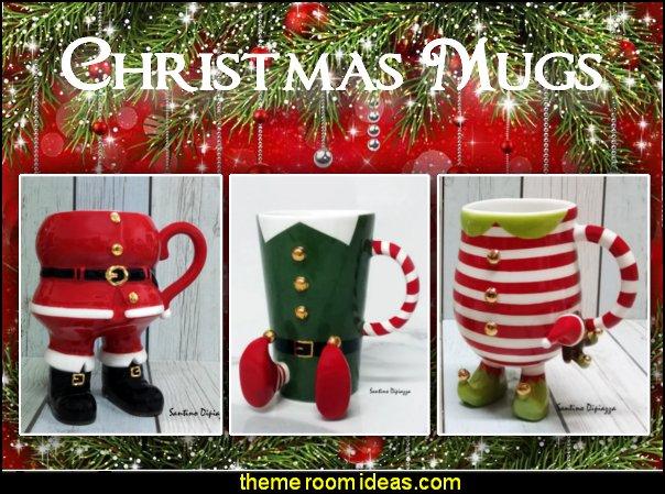 christmas mugs Elf Coffee Mug Santa Claus Mug  Christmas Elves Mug  elf mugs