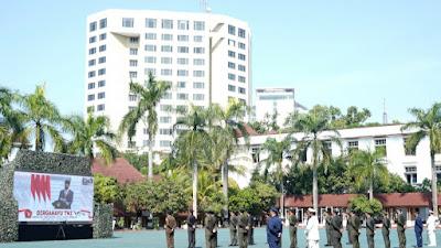 HUT Ke-76 TNI Digelar Virtual di Makodam III/Siliwangi