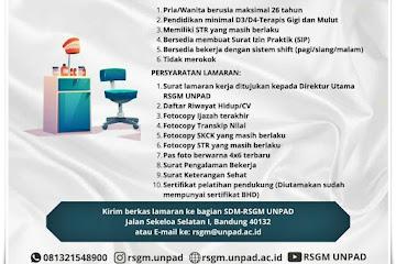 Loker Bandung Terapis Gigi dan Mulut RSGM Unpad