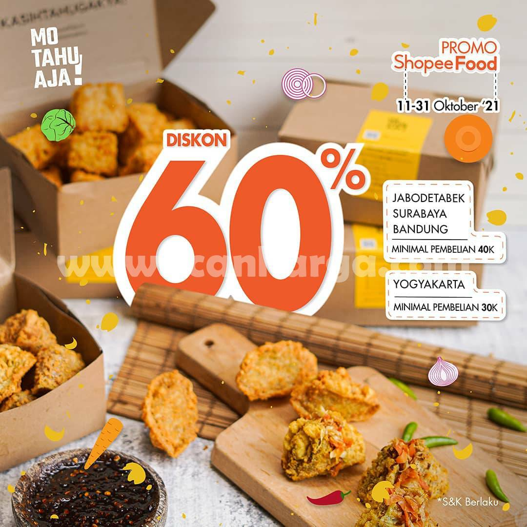 Promo Mo Tahu Aja Diskon 60% Via ShopeeFood