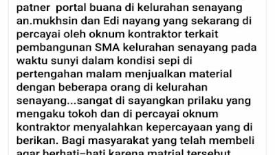 Akun Facebook Wak Labu di duga cemarkan media Portal Buana, langkah hukum akan di tempuh.